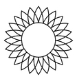 Sunflower icon outline style vector image vector image