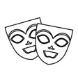 theater and carnival masks vector image