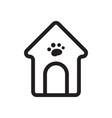 thin line dog house icon vector image vector image