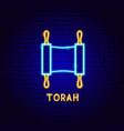 torah neon label vector image vector image