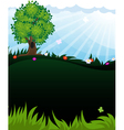 Tree in meadow vector image vector image