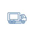 truck line icon concept truck flat symbol vector image