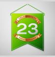 twenty three years anniversary celebration design vector image vector image