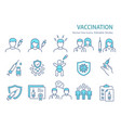 vaccine icon set collection injection syringe vector image vector image