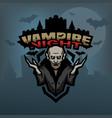 vampire against background castle vector image