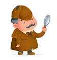 victorian detective gentleman magnifying glass vector image