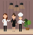 women professional work doctor chef and vector image