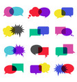 bubble speech icon set vector image