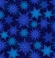 Snowflakes seamless pattern vector image