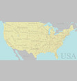 high detailed accurate exact united states of vector image