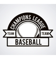 baseball league design vector image vector image