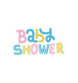 bashower nursery print for invitation kids vector image vector image