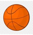 basketball ball icon in cartoon style vector image vector image
