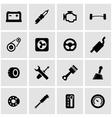 black car parts icon set vector image vector image