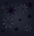 black winter seamless pattern with snowflakes vector image vector image