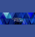 blue repeating triangles gradient geometric vector image