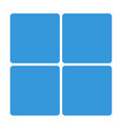 blue window block icon isolated on background mod vector image