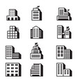 building icons symbol set vector image vector image