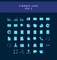 business and finance icon flat style design set vector image vector image