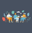 business meeting co working vector image vector image