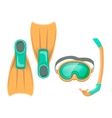 Colorful of diving mask vector image