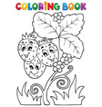 coloring book fruit theme 4 vector image vector image