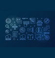 content writer blue outline horizontal vector image