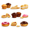 cookies and buisquits realistic set vector image vector image