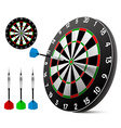 Dart and dartboard vector image