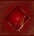 decorative background with golden floral frame vector image