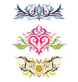 Decorative Floral Ornaments vector image vector image