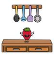 delicious tasty fruit cartoon vector image vector image