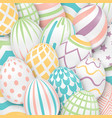 easter background with 3d ornate eggs vector image vector image