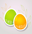 egg floral banners color vector image vector image