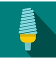 Energy saving bulb icon flat style vector image vector image