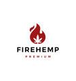 fire cannabis logo icon vector image vector image