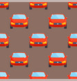 flat red car vehicle type design sedan seamless vector image vector image
