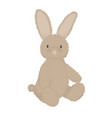 fluffy bunny cute image stuffed toy animal vector image vector image