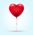 flying heart balloon vector image vector image