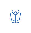 fur coat line icon concept fur coat flat vector image vector image