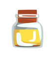 glass jar with yellow oil for spa and aromatherapy vector image vector image