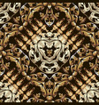 gold baroque ornamental 3d seamless pattern vector image vector image