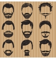 Hair mustache and beard Retro hipsters vector image vector image