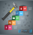 hammer repair icon business infographic vector image vector image