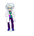 hand drawing cartoonish bright character mad vector image vector image