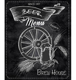 hand drawn chalkboard with beer menu Contains vector image