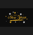 hand drawn happy new year greeting card vector image