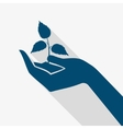 Hand Holding Plant Sprout vector image vector image