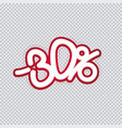 hand writing 30 percent discount sale banner vector image vector image