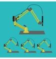Industrial robot vector image